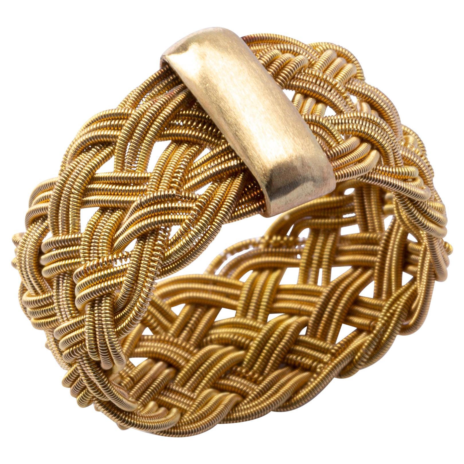 Alex Jona 18 Karat Yellow Gold Filigree Ring Band