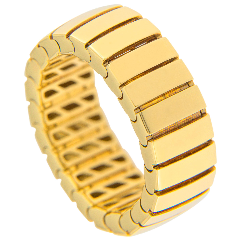 Alex Jona 18 Karat Yellow Gold Flexible Band Ring