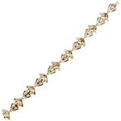 Jona 18 Karat Yellow Gold Frog Link Bracelet