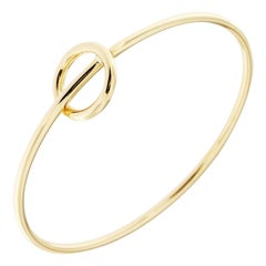 Jona 18 Karat Yellow Gold Hoop Bangle Bracelet