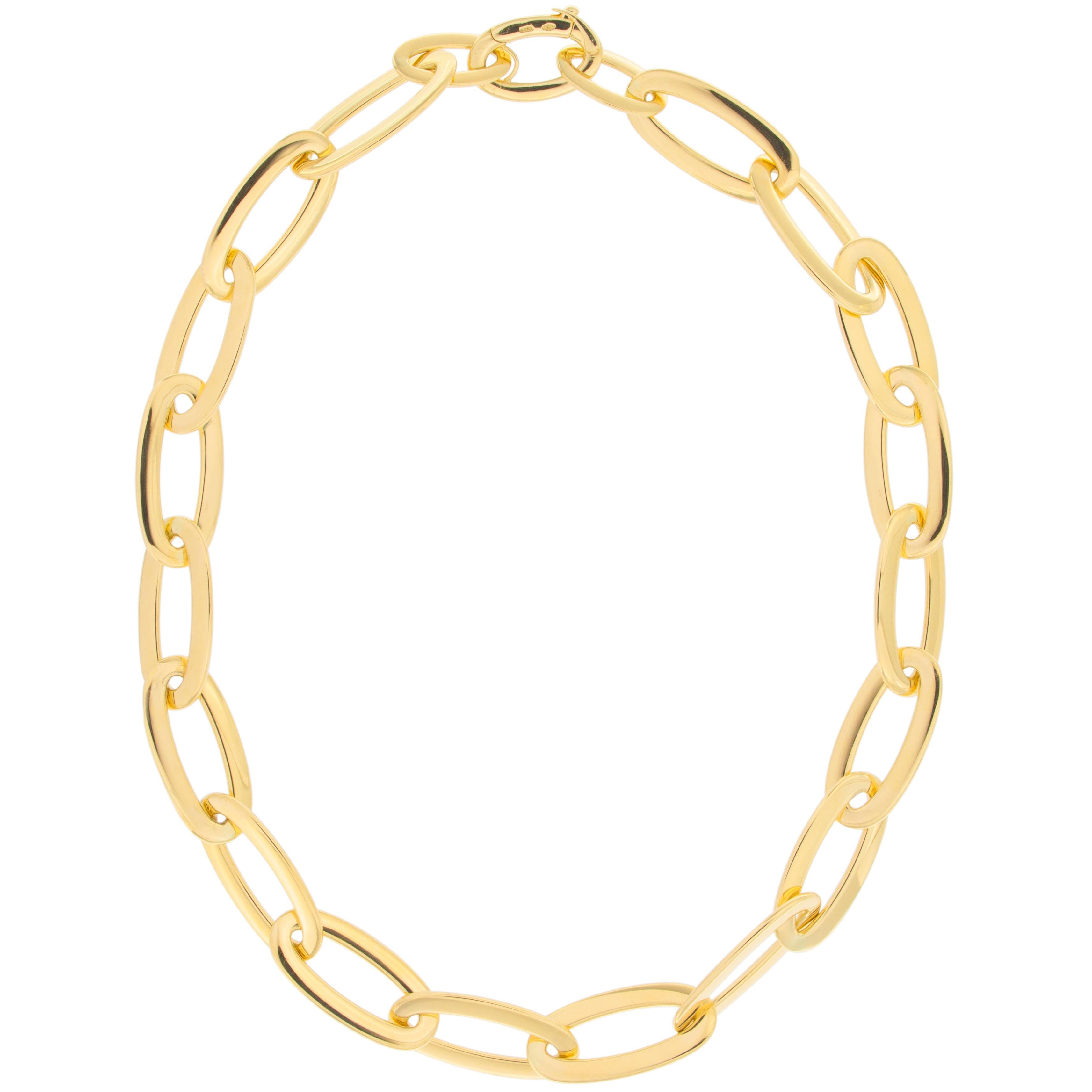 Jona 18 Karat Yellow Gold Link Chain Necklace