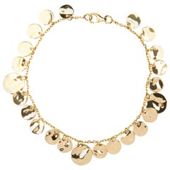 Jona 18 Karat Yellow Gold Multiple Coin Chain Bracelet