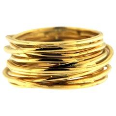 Jona 18 Karat Yellow Gold Spaghetti Ring Band