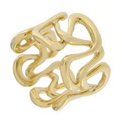 Jona 18 Karat Yellow Gold Swirl Band Ring