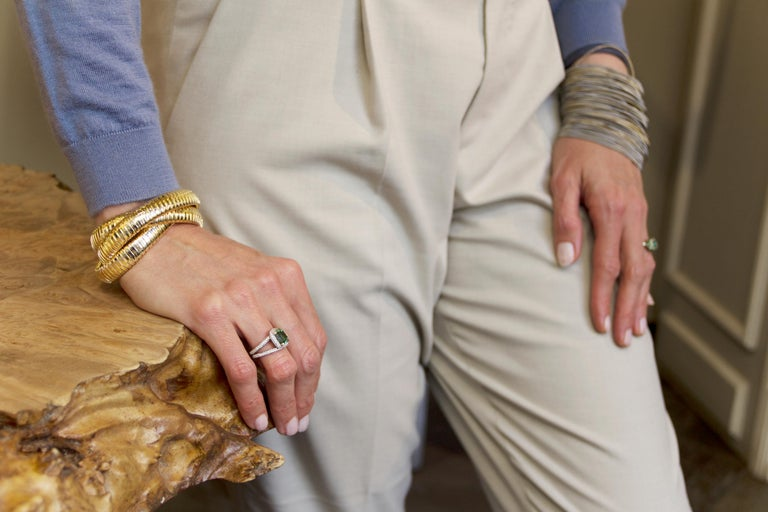 Alex Jona 18 Karat Yellow Gold Tubogas Rolling Bracelet For Sale 4