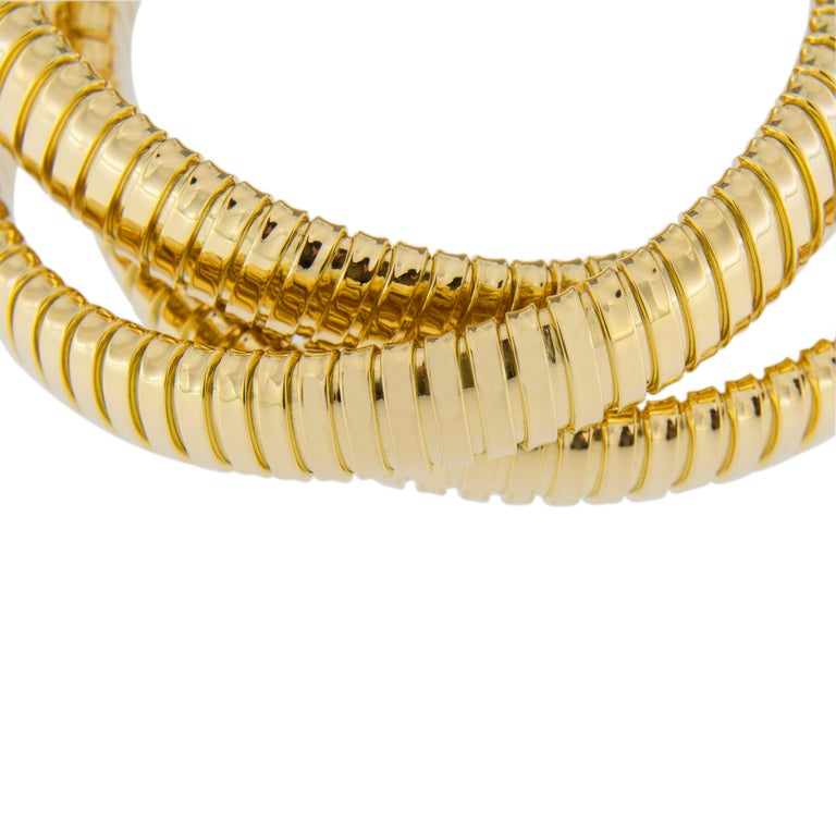 Alex Jona 18 Karat Yellow Gold Tubogas Rolling Bracelet For Sale 5