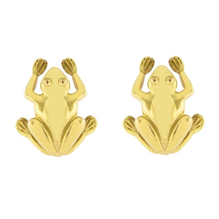 Jona 18K Yellow Gold Frog Stud Earring
