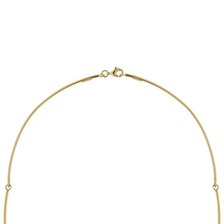 Jona 18 Karat Yellow Gold White Diamond Choker Pendant Necklace 2