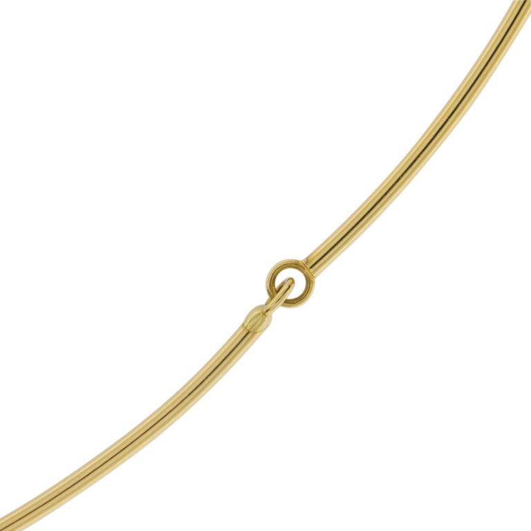 Jona 18 Karat Yellow Gold White Diamond Choker Pendant Necklace 3