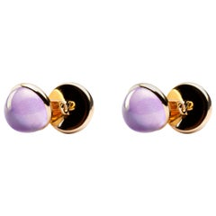 Jona Amethyst 18 Karat Yellow Gold Cufflinks
