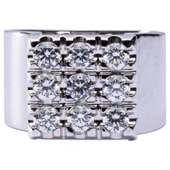 Jona B White Diamond 18 Karat White Gold Ring Band