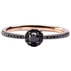 Jona Black Diamond 18 Karat Rose Gold Eternity Band Ring