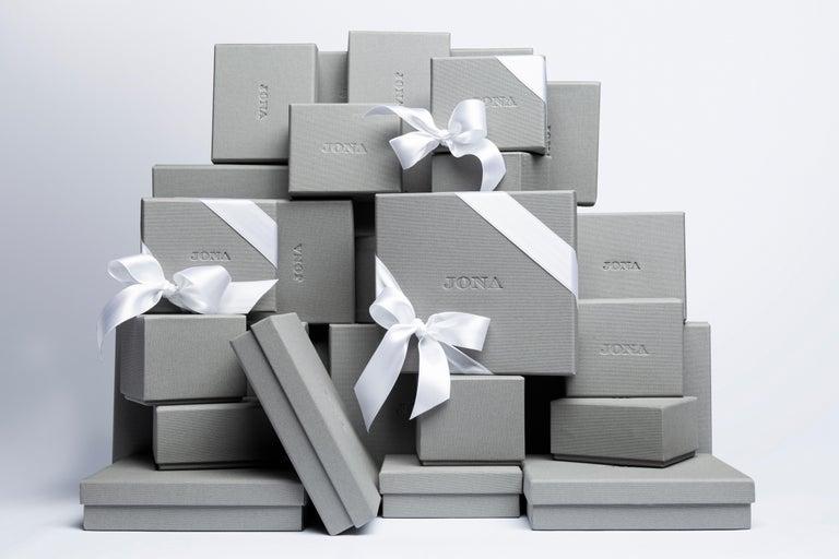 Jona Blue Enamel Sterling Silver Cufflinks For Sale 2