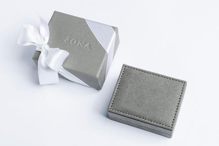 Women's or Men's Jona Blue Enamel Sterling Silver Cufflinks For Sale