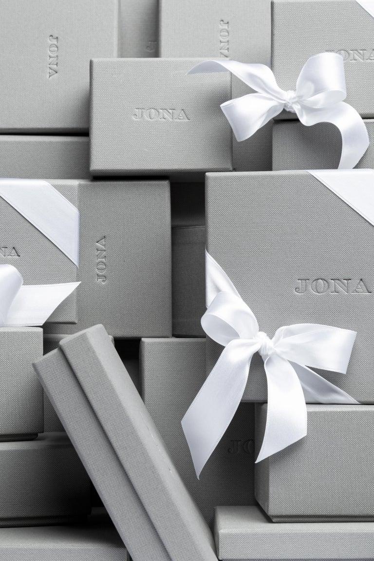 Jona Blue Grey Enamel Sterling Silver Cufflinks For Sale 1