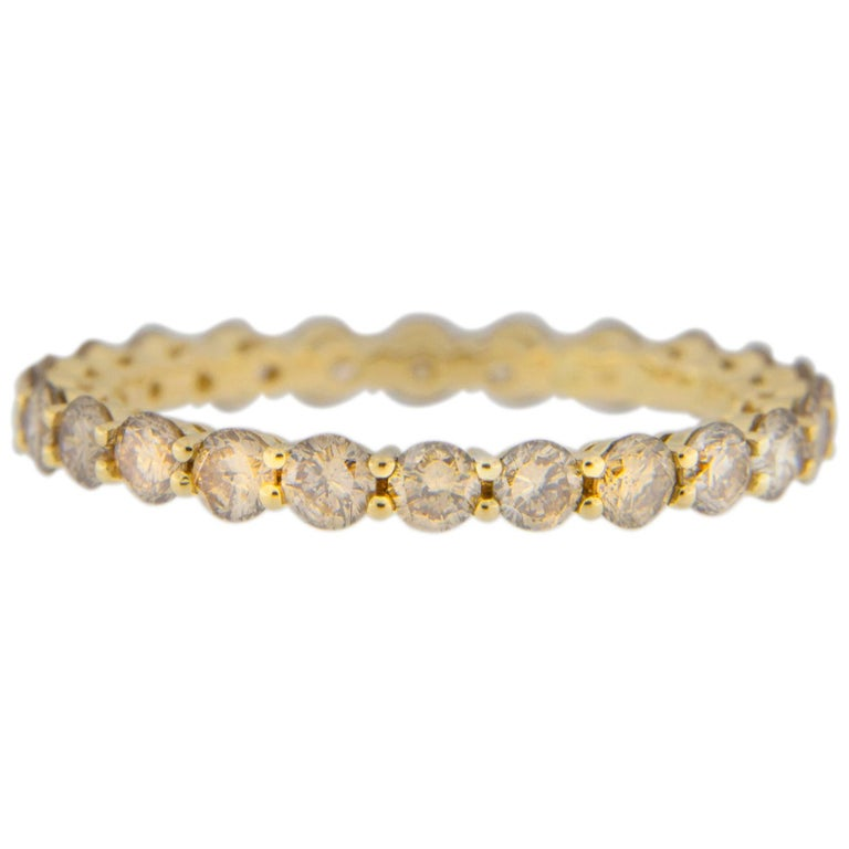 Jona Brown Diamond 18 Karat Yellow Gold Eternity Band Ring In New Condition For Sale In Torino, IT