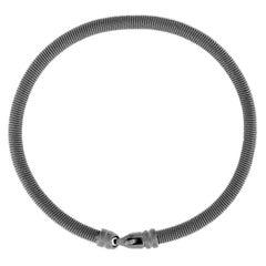 Jona Burnished Sterling Silver Twisted Wire Bangle Bracelet