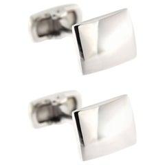 Jona Convex Silver Cufflinks