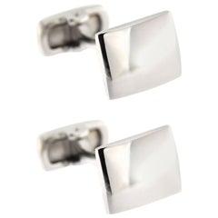 Jona Convex Sterling Silver Cufflinks
