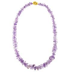 Jona Crazy Cut Amethyst Necklace