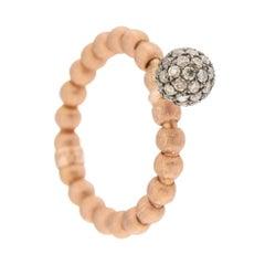 Jona Brown Diamond Flexible 18 Karat Rose Gold Ring