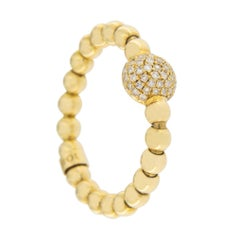Jona Diamond 18 Karat Yellow Gold Flexible Ring