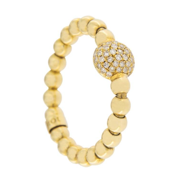 Jona Diamond 18 Karat Yellow Gold Flexible Ring