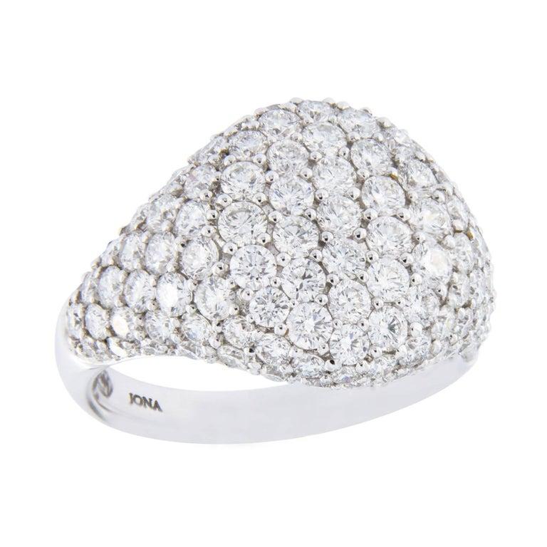 Jona Diamond Pavé Gold Signet Ring