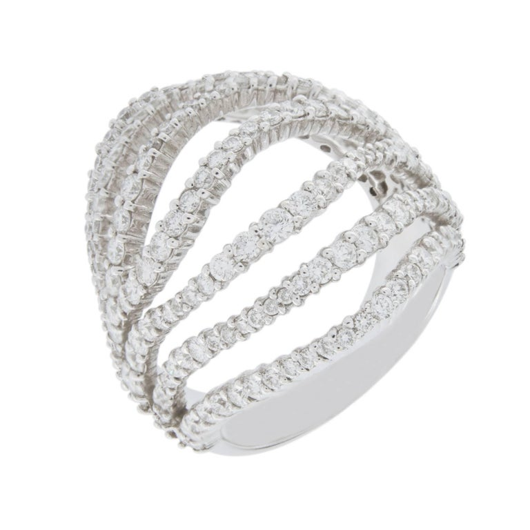 Jona Diamond White Gold Dome Ring