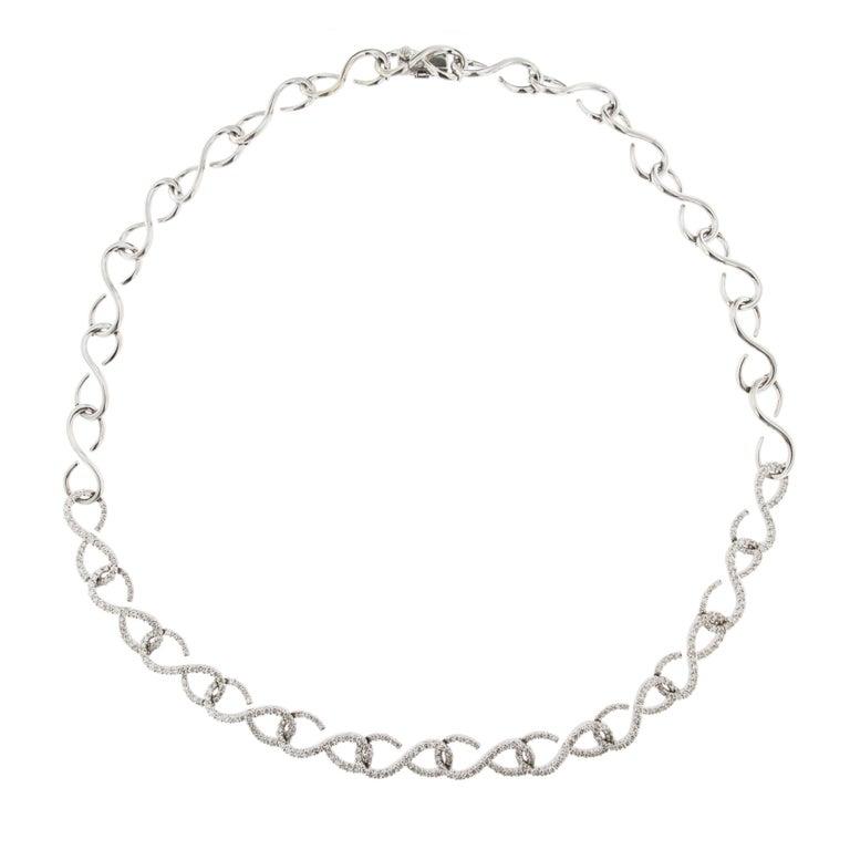 Jona Diamond White Gold Link Necklace