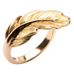 Alex Jona Feather 18 Karat Yellow Gold Ring