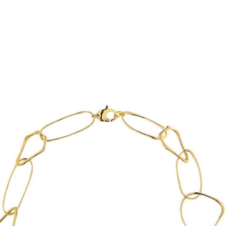 Women's Jona Freeform 18 Karat Yellow Gold Link Necklace For Sale