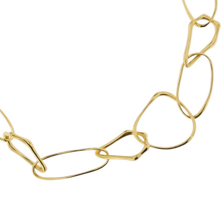 Jona Freeform 18 Karat Yellow Gold Link Necklace For Sale 2
