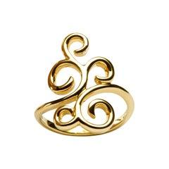Jona Ghirigori 18 Karat Yellow Gold Ring