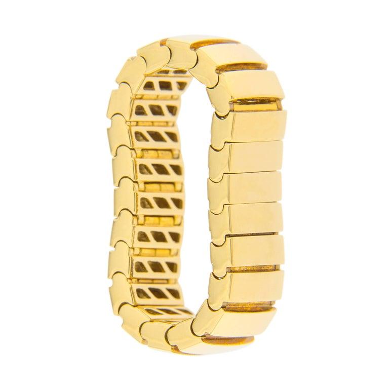 Women's Jona 18 Karat Yellow Gold Flexible Band Ring For Sale
