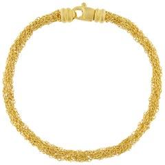 Jona Gold-Plate Sterling Silver Woven Chain Bracelet