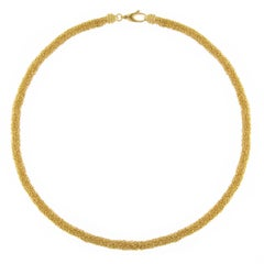Jona Gold-Plate Sterling Silver Woven Chain Necklace