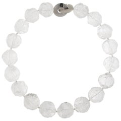 Jona Hammered Rock Crystal Necklace