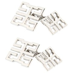 Jona Long and Happy Life Symbol Sterling Silver Cufflinks