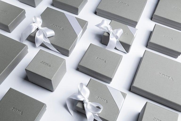 Jona Matte Onyx Geometric Sterling Silver Cufflinks For Sale 1