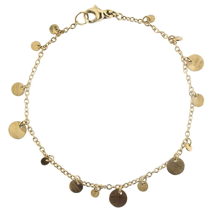 Jona Multi-Coin 18 Karat Yellow Gold Chain Bracelet