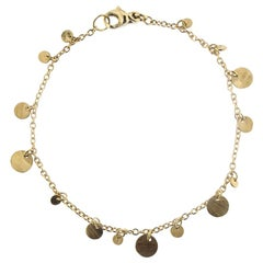 Jona Multi-Coin 18 Karat Yellow Gold Chain Bracelet