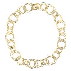 Jona Multiple Interlocking Hoop 18 Karat Yellow Gold Necklace