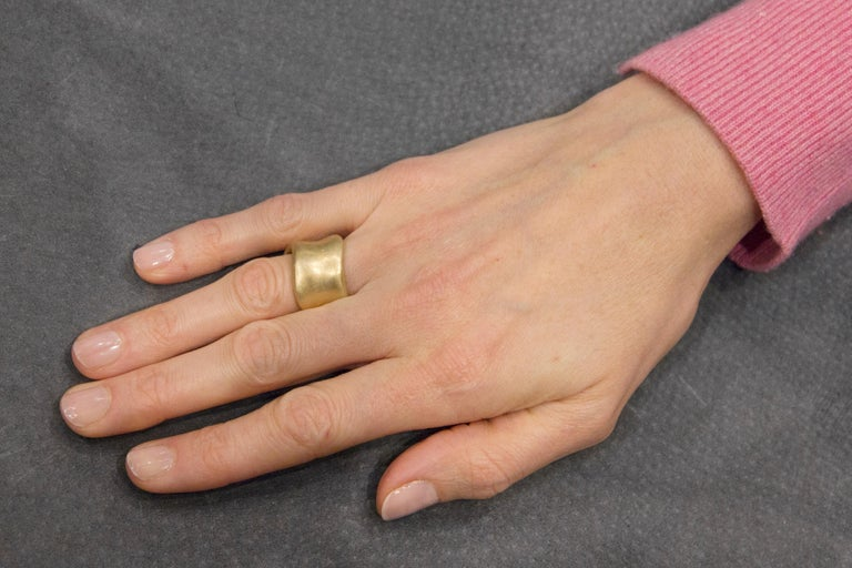 Jona Onda 18 Karat Yellow Gold Ring Band For Sale 3