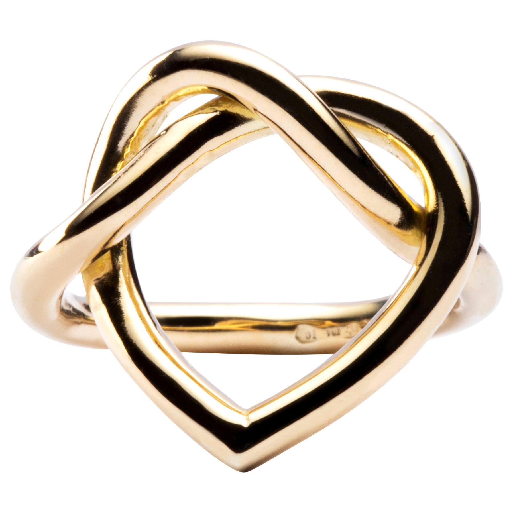 Jona Open Heart 18 Karat Yellow Gold Ring