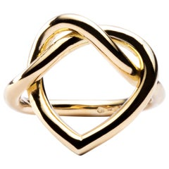 Jona Open Heart 18 Karat Yellow Gold Ring