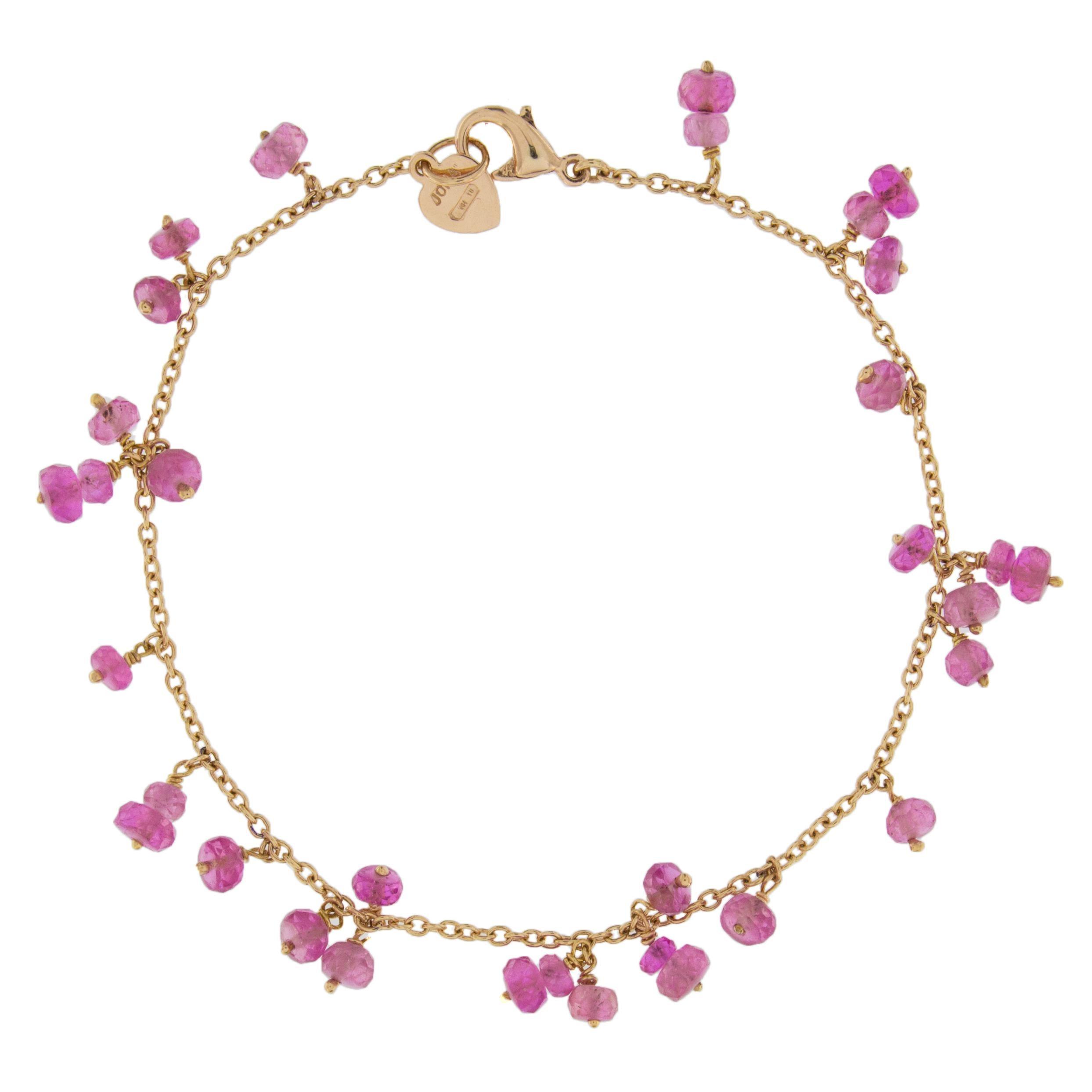 Jona Pink Sapphire 18 Karat Rose Gold Bracelet