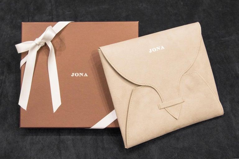 Jona Pink Sapphire 18 Karat Rose Gold Necklace For Sale 2