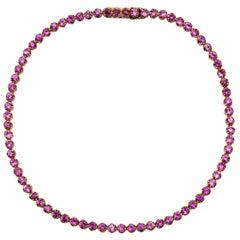 Jona Pink Sapphire 18 Karat Rose Gold Tennis Bracelet