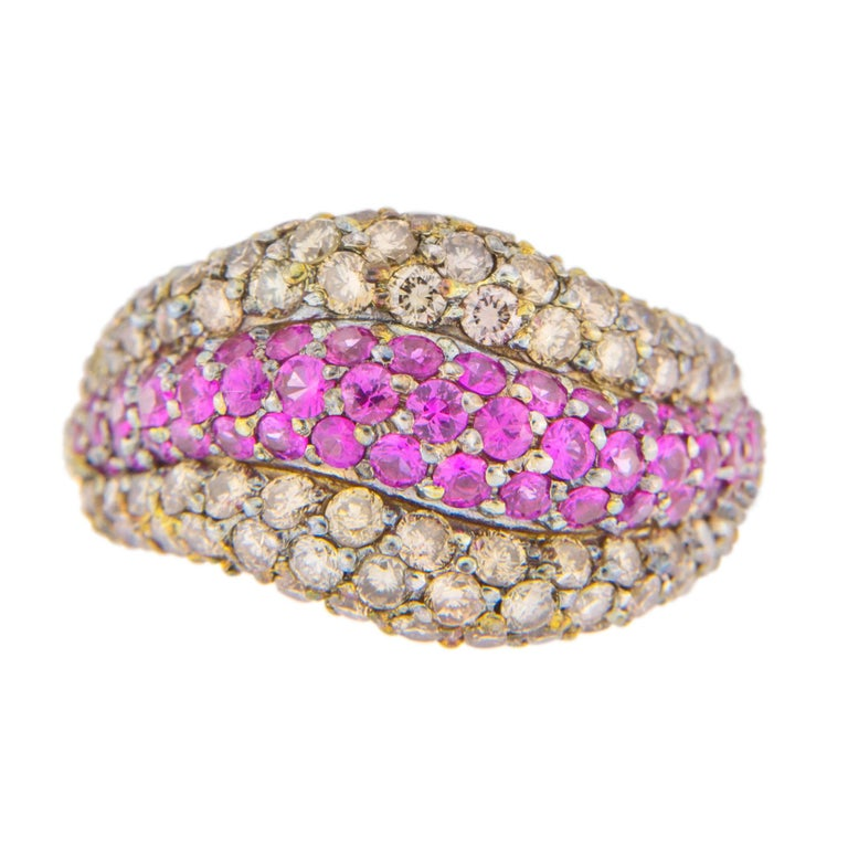Pink Sapphire Bow Ring